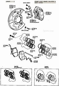 Fj40 Fj55 Fj60 Fj80 Disc Brake Caliper Illustration Diagram