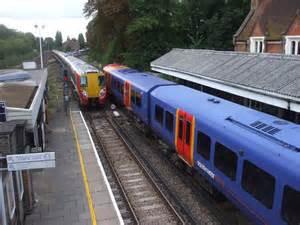 Trains At Barnes Station © John Lord Cc-by-sa/2.0