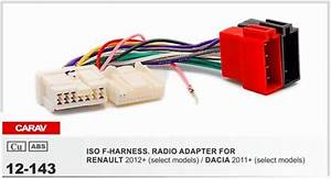 Carav 12 143 Iso F Harness Radio Adapter For Renault Logan
