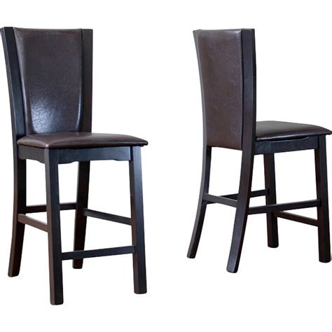 Wing Counter Stool   Dark Brown (Set of 2)   DCG Stores