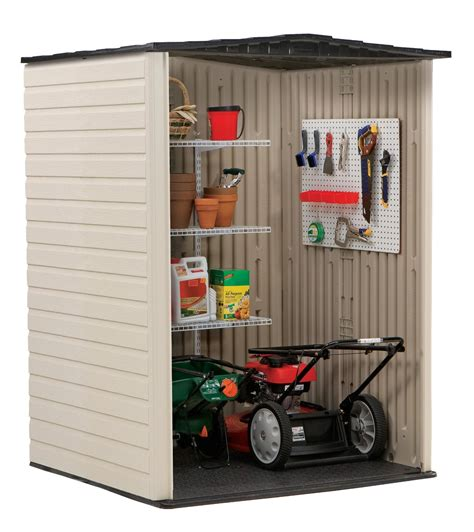Rubbermaid Medium Vertical Storage Shed by Rubbermaid Medium Vertical 106 Cu Ft Outdoor Storage
