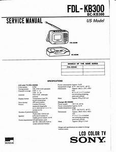 Sony Fdl-kb300 Bc-kb300 Mini Lcd Tv Service Manual