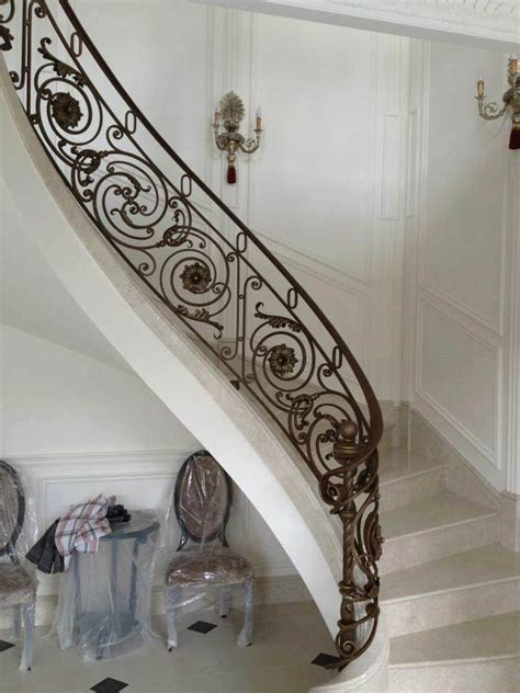 railing tangga klasik railing tangga besi tempa klasik