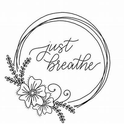 Coloring Printable Journal Bullet Breathe Calligraphy Library