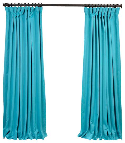 turquoise blue doublewide blackout curtain single panel