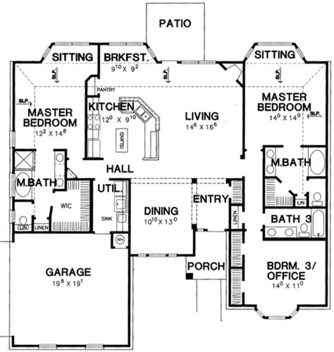 Master Suite House Plans by Plan 3056d Master Bedroom House Plan In 2019