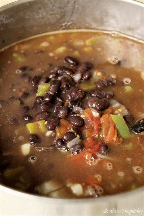 black bean soup  knorr chicken concentrate southern