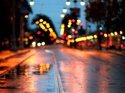 road rain city lights wallpapers hd desktop