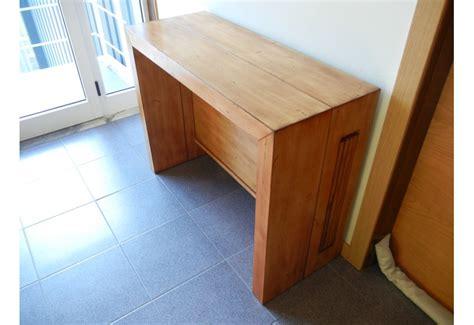 siege d atelier console extensible en bois massif avec 4 allonges