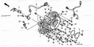 Honda Atv 2010 Oem Parts Diagram For Rear Crankcase Cover
