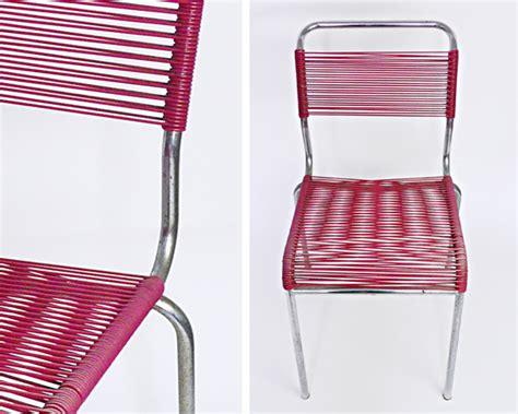 chaise en fil plastique les traficoteuses chaise scoubidou framboise