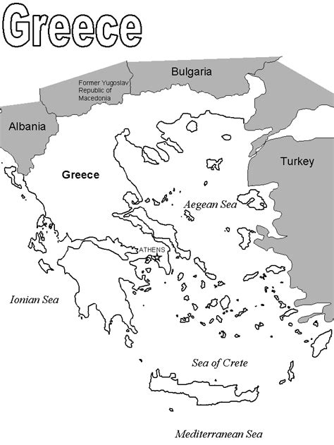 greek map coloring pages coloring book