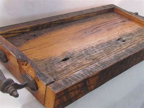 reclaimed wood serving tray barn wood tray admired