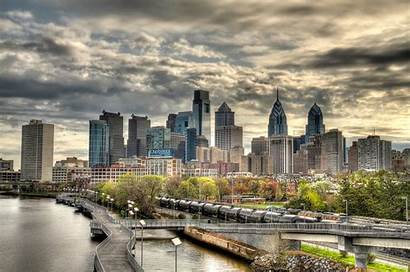 Philadelphia Skyline Spring South Street Storm Bridge