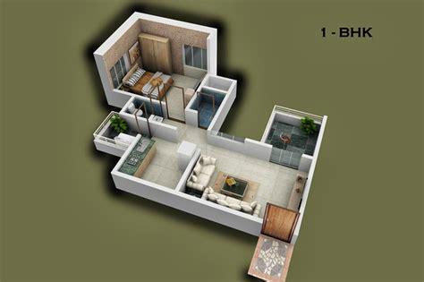 Home Design 1 Bhk : 1 Bhk Flats Floor Layouts