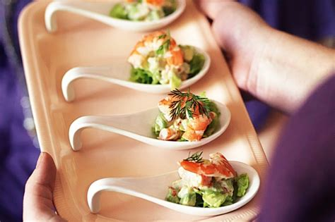 canapes on spoons recipes prawn cocktails recipe taste com au