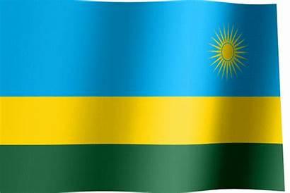 Flag Rwanda Waving Rwandan Flags Animated Sun