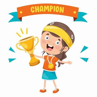 Win Kid Celebrating Premium Championship Happy Freepik