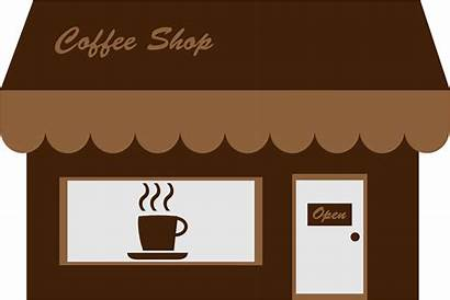 Coffee Starting Clipart Storefront Cafe Boutique Openclipart