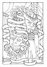 Coloring Pages Sheets Masks Theatre Theater Drama Printable Adult Hawaiidermatology sketch template