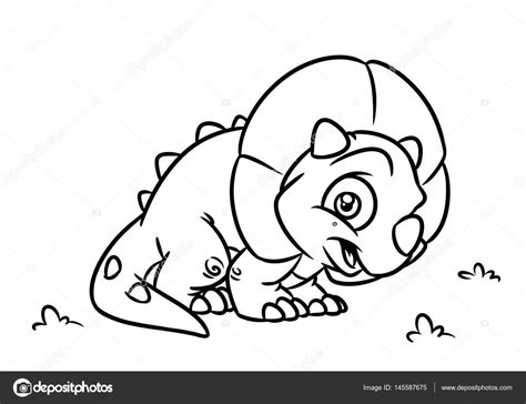 Triceratops Kleurplaat by Dinosaur Triceratops Coloring Page Illustrations