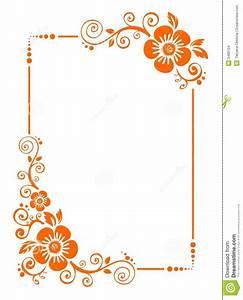 Orange Flower clipart flower bottom border - Pencil and in ...