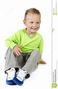 Young Boy Sitting - Isolated Royalty Free Stock Images ...  Sitting