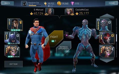 injustice android injustice 2 232 disponibile in versione mobile per iphone