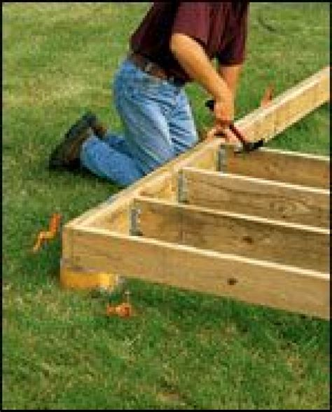 A Free Standing Ground Level Deck Is A Clever Way To