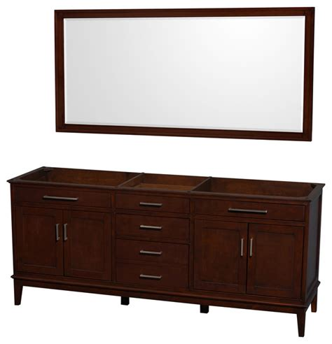 Houzz Bathroom Vanities Modern by Hatton 80 Quot Chestnut Bathroom Vanity No