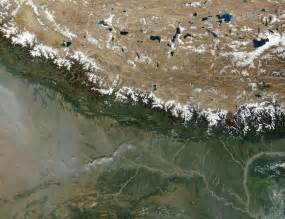The Mountain Range Himalayas From Space