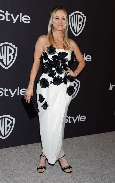 Kaley Cuoco Instyle Warner Bros Golden Globes
