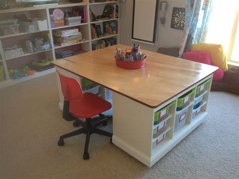 table and storage finished kids 39 craft board game table in the kids