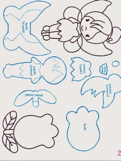 tinkerbell template felt patrones gratis de canita en miniatura fomiart goma