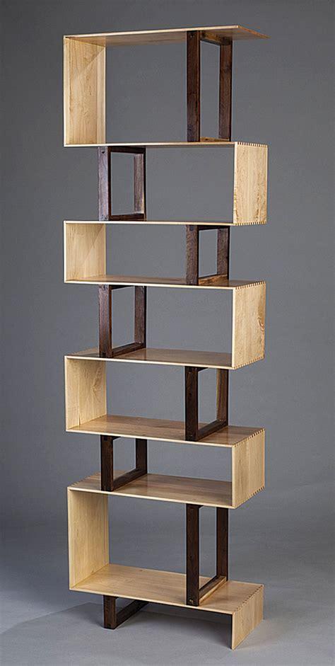 Zig Zag Bookcase by Zigzag Bookshelf Finewoodworking