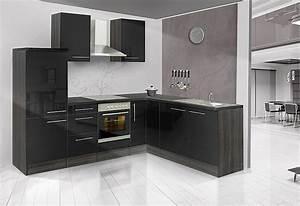 Küchenzeile 200 Cm : winkel k chenzeile mia 260 x 200 cm korpus eiche grau dekor set 1 online kaufen otto ~ Indierocktalk.com Haus und Dekorationen
