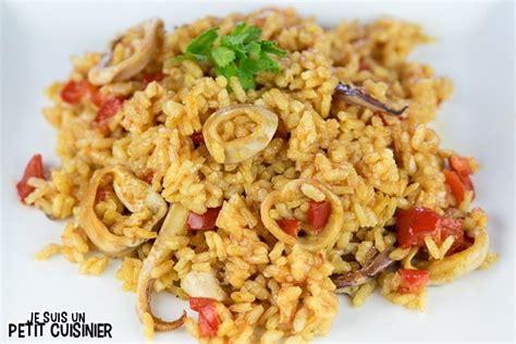 comment cuisiner les calamars recette de paella aux calamars