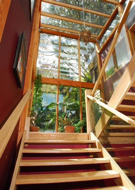 70s wooden house refurb   Oak stairs in Atrium   Our Homes