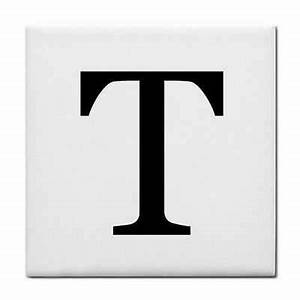 letter t alphabet georgia font decorative ceramic tile for With decorative letter tiles
