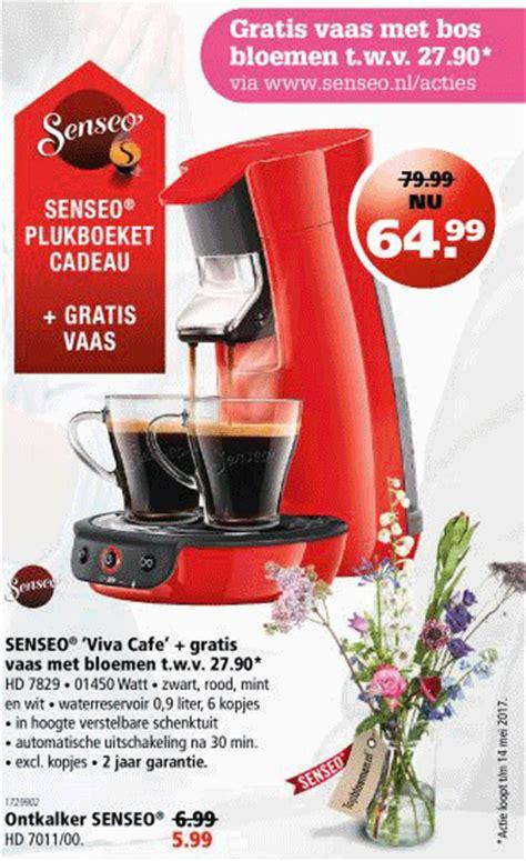 senseo bloemen senseo viva cafe gratis vaas met bloemen t w v 27 90