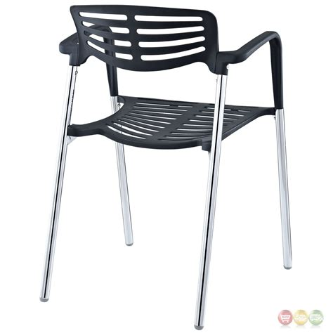 fleet casual plastic stacking chair with chrome metal