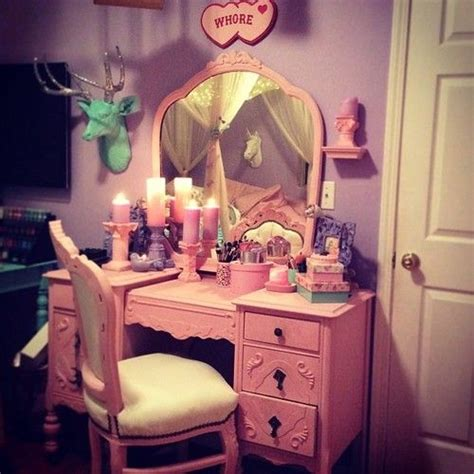 pastel goth room and vanity the cave for home