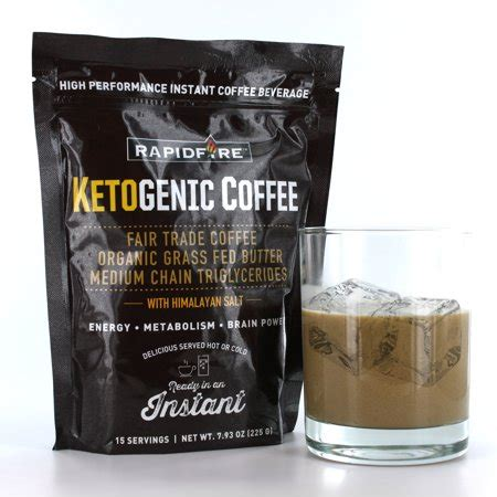 Keto coffee is an amazing drink to help you transition into your intermittent fasting journey while staying satiated during your fasted state. Rapid Fire Ketogenic Coffee Instant Mix, 7.93 oz - Walmart.com