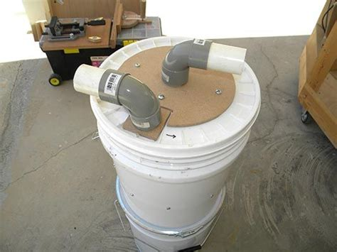 mini cyclone bucket dust collector  steps