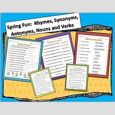 Spring & Easter Fun Rhymes, Synonyms, Antonyms, Nouns And Verbs By Emily Ames