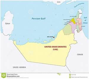 Vereinigte Arabische Emirate Karte Provinzen