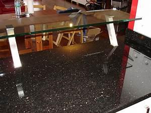 Plan De Travail Noir Brillant : granits d co plan de travail en granit star galaxy ~ Dailycaller-alerts.com Idées de Décoration