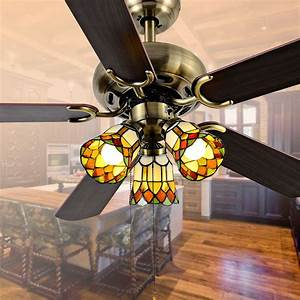 Decorative Super Quiet Ceiling Fan 4213 Church Red Shades