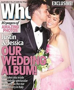 jessica biel explains that pink wedding dress to elle With jessica biel wedding dress