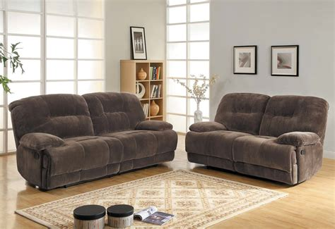 Reclining Microfiber Sofa And Loveseat Set by Homelegance Geoffrey Reclining Sofa Set Chocolate